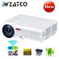 WZATCO светодио дный LED 96 Вт светодио дный 3D проектор 7,1 люмен Android Full HD 1080p Smart Wi Fi 5500 поддержка 4 к онлайн видео Proyector для дома - фото