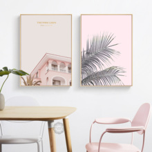 Nordic Poster Plant Pink Posters And Prints Modern Wall Art Canvas Painting Pictures Girl Home Framework Decoration Decor