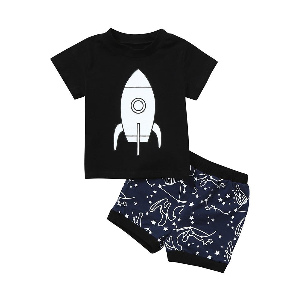 ARLONEET 2018 Baby Boy Tops T-Shirt Print Shorts Sets Clothes Children Clothing SUMMER Short Sleeve Cute Suit May30 W20d30