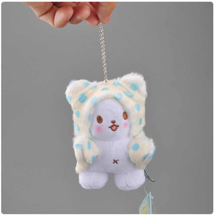 Manta japonesa oso mini colgante de felpa muñeca de juguete con llavero de felpa 10 cm wj04