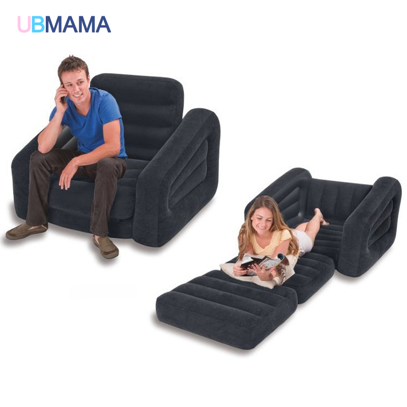 Modern Double Seat Inflatable Sofa Leisure Living Room Furniture  Comfortable Recreational Flocking PVC Lounger Sofa Bed A229 In Accessories  From Mother ...