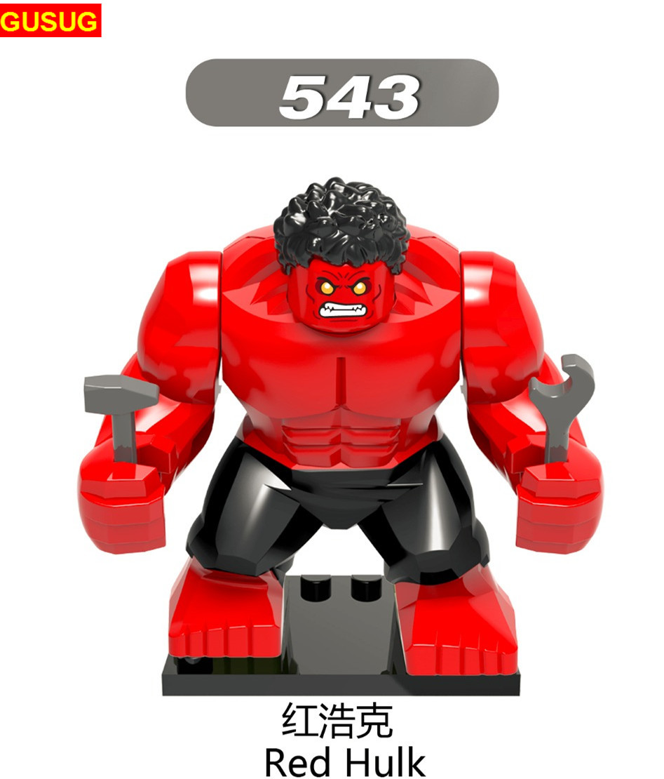 GUSUG 50PCS Super Heroes Marvel Captain American super adaptoid spider Boy red she hulk Hammer Coulson