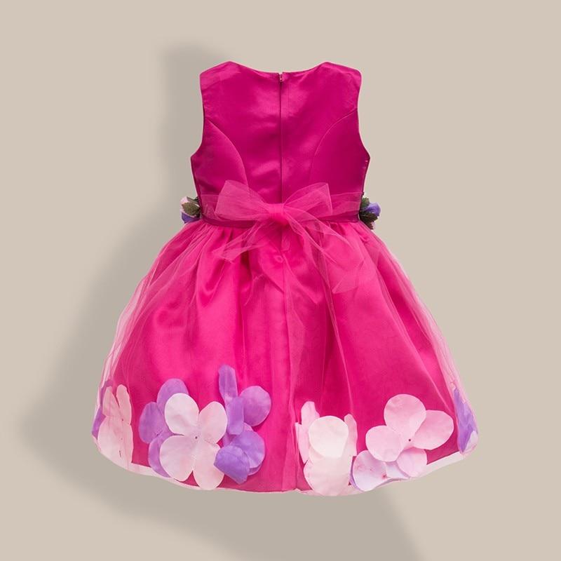 Fëmijët vestido infantil Vajzat Petalet e Luleve Fëmijët Nusja - Veshje për fëmijë - Foto 2