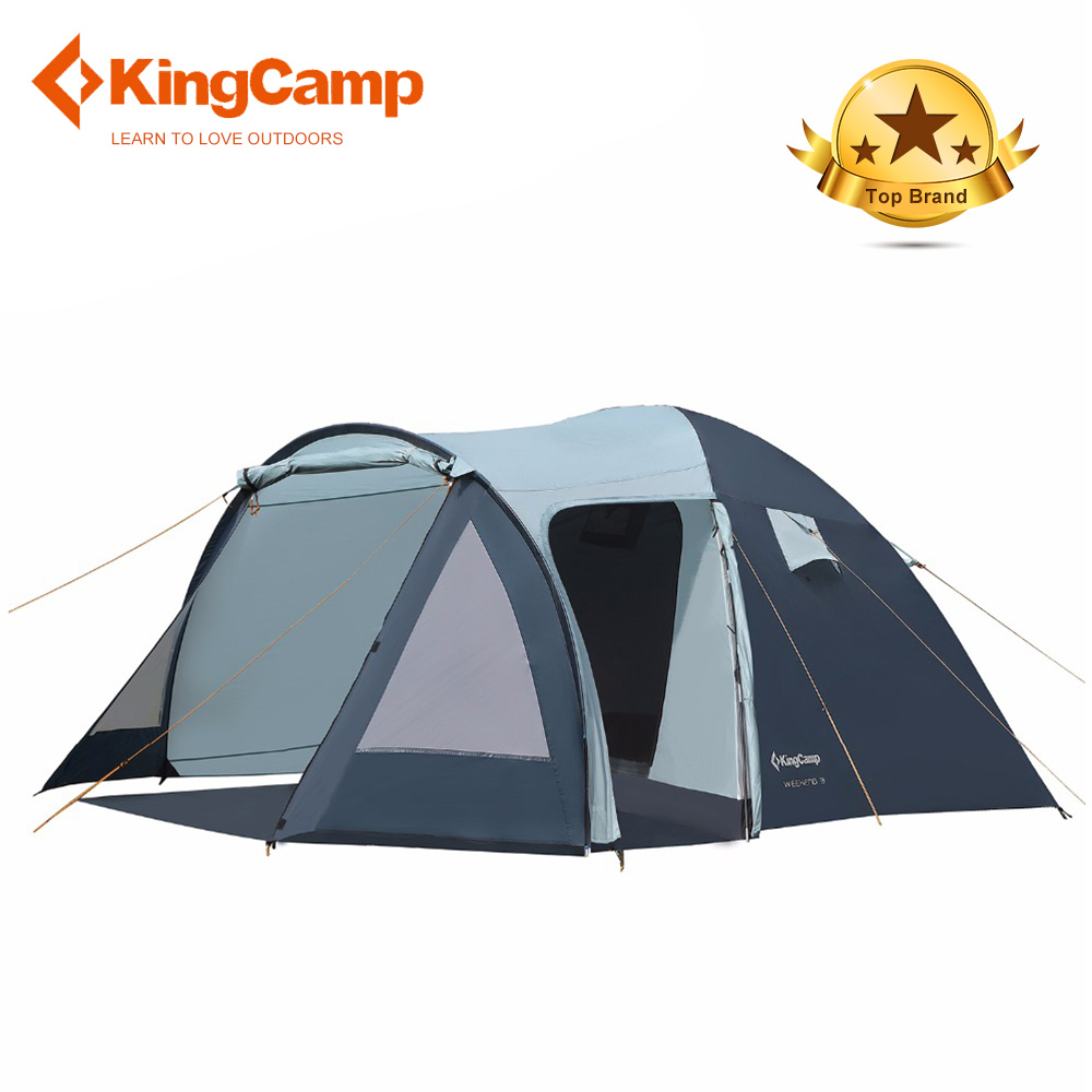 KingCamp Camping Tente 3f ul vitesse plage tente 1 2 5 personne lanshan 2 hillman ultra-léger tente rêve tentes en plein air camping
