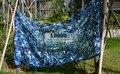 10 M * 10 M azul rede de camuflagem selva camo compensação para portátil carro dossel abrigo praia festa temática decoração varanda tenda