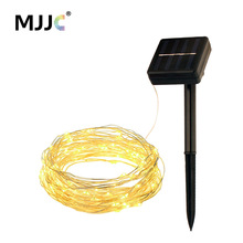 MJJC Solar Powered LED Fairy Lights 10M 100 LED Copper Wire String Lights for Patio Christmas Decorations Outdoor Waterproof