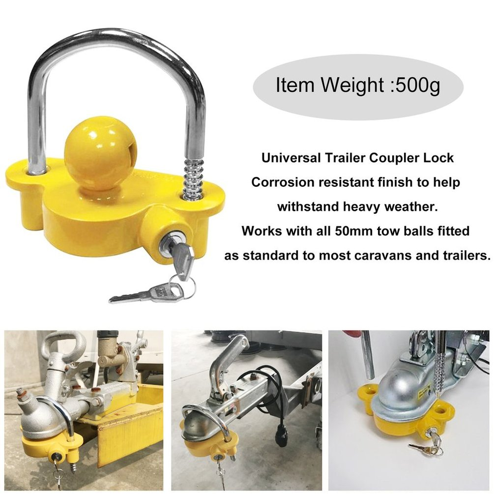 Trailer Coupling Hitch Lock Trailer Parts Universal Tow Ball Car Security Anti-Theft Lock Trailer Accessories