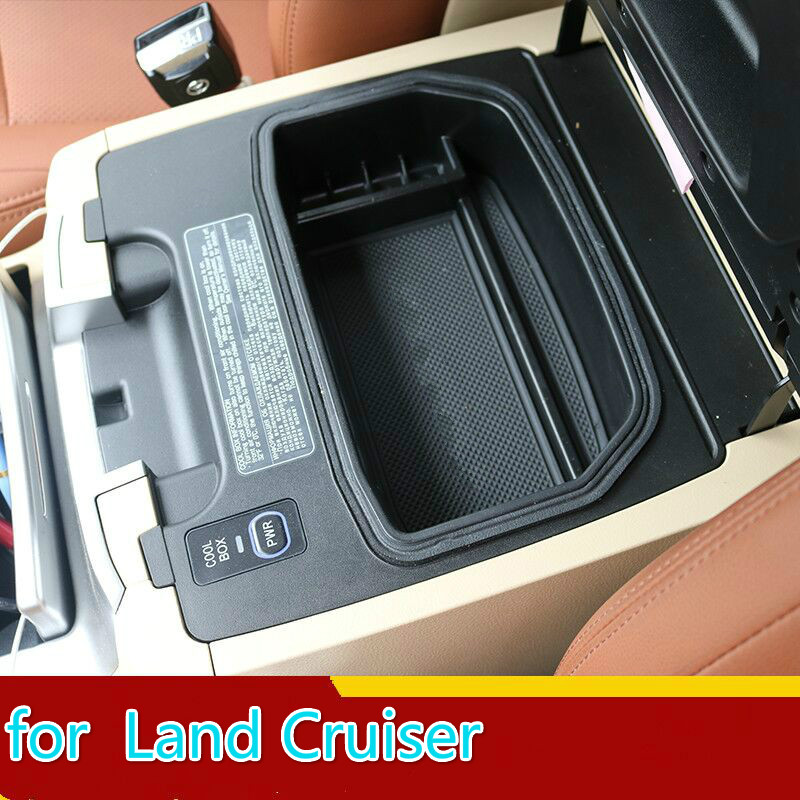 Car Organizer For Toyota Land Cruiser 200 FJ200 2004-2016 Refrigerator Central Armrest Storage Glove Holder Tray Box Accessories