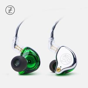 Image 4 - Ароматные наушники Zither TFZ T2, сценические наушники с 2 контактной металлической лицевой панелью, Hi Fi монитор IEM 3,5 мм, спортивные музыкальные динамические наушники для DJ, 2019