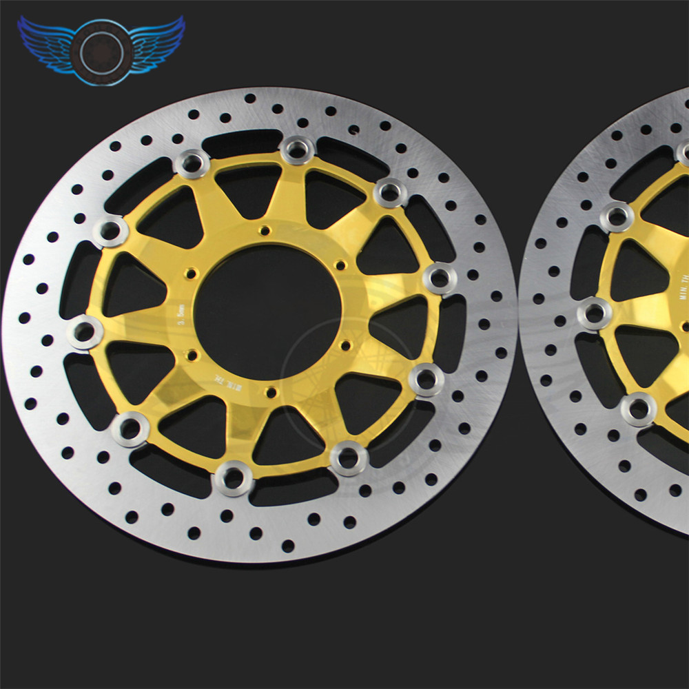2 piece motorcycle parts Left+Right Brake Rotors Front Brake Discs Rotor For Honda CBR1000RR 2006 2007 2008 2009 2010 2011 2012 aftermarket free shipping motorcycle parts eliminator tidy tail for 2006 2007 2008 fz6 fazer 2007 2008b lack
