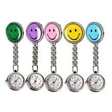 Портативный очаровательная улыбка лицо врач-Медсестра Брелок Брошь Кулон карманные кварцевые часы Лидер продаж LL@ 17