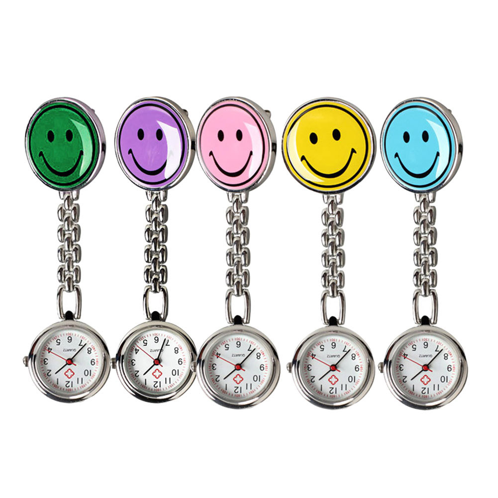 New Portable Charming Smile Face Doctors Nurse Fob Brooch Pendant Pocket Quartz Watch Hot Sell  LL@17