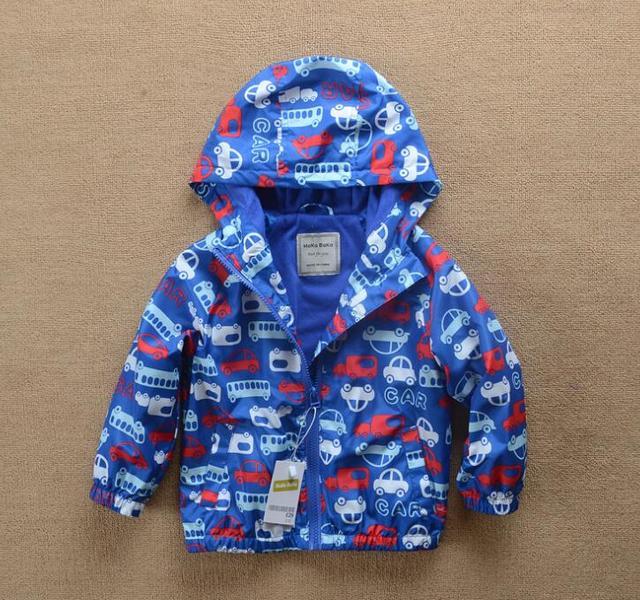 2016 Autumn Baby Boys Cartoon car hooded jacket coat wholesale