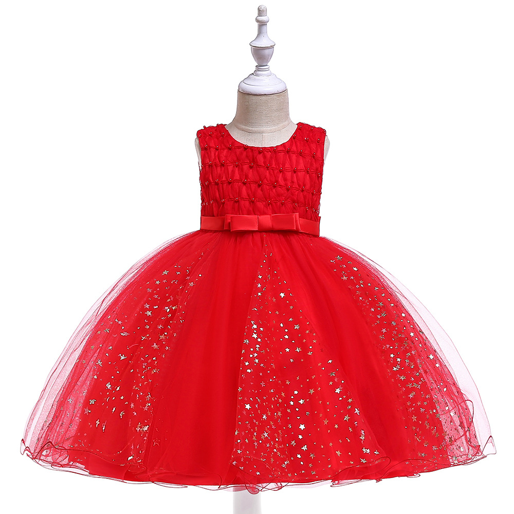 Red Tulle   Flower Girl Dresses For Weddings Prom Evening  Tutu Party Dresses Princess
