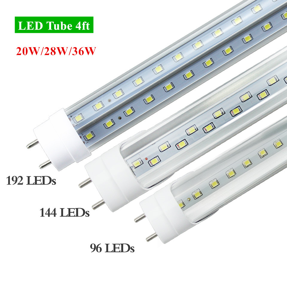 G13 4ft 20W 28W 36W Led Bulbs Tubes T8 96LED 144LED 192LED SMD2835 Super Bright Led Fluorescent Lights AC 85-265V CE 25pcs/lot 9pcs lot t8 led tubes lights 4ft super bright 28w g13 fluorescent tube led bulb energy saving for existing wall lamps light