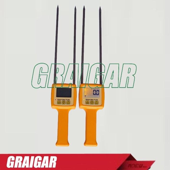 Digital Portable TK100S Corn,wheat,rice,bean,wheat flour tester 4 Digital LCD Grain moisture meter range:5-35% hygrometer  цены