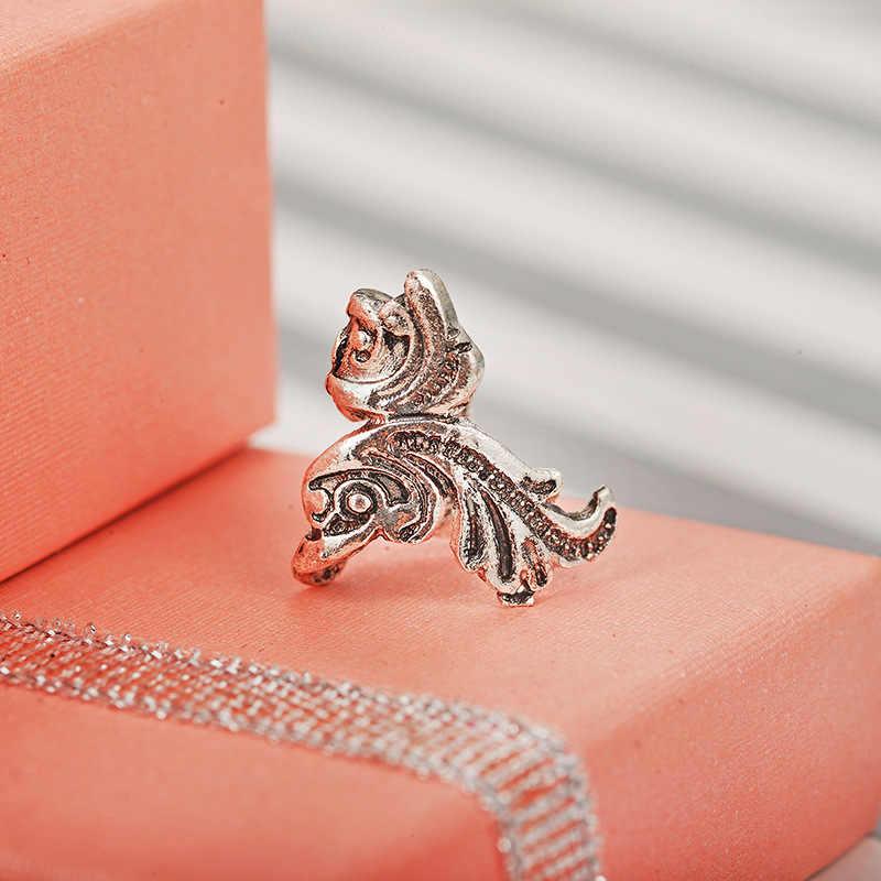 1 pc mujeres Vintage Punk Metal oreja brazalete envolver pez dorado oreja Clip plata oro Color pendientes Piercing joyería