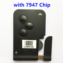 Дистанционный Ключ Смарт-Карты 433 МГц для RENAULT MEGANE 3 Кнопки с Чипом PCF7947 Автозапуск Fob Автосигнализации