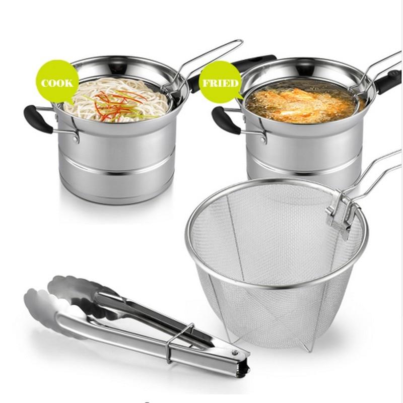 4 pcs/sut 22 CM Stock Pots En Acier Inoxydable Multi-usages Quatre Saisons Pot Poêle Multi-fond Pot Ensemble Pot Cuisinière À Induction