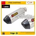 Cbr CB400 CB600 CBR600 CBR1000 CBR250 CBR125 ER6N ER6R YZF600 TTR YBR YZF RSZ motocicleta tubo de escape silenciador tubo frete grátis