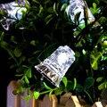 15ft 20 Sino LEVOU Ao Ar Livre Luzes Da Corda Solares À Prova D' Água para Cerca Do Jardim Do Pátio Paisagem Caminho da Festa de Casamento Decoração de Natal