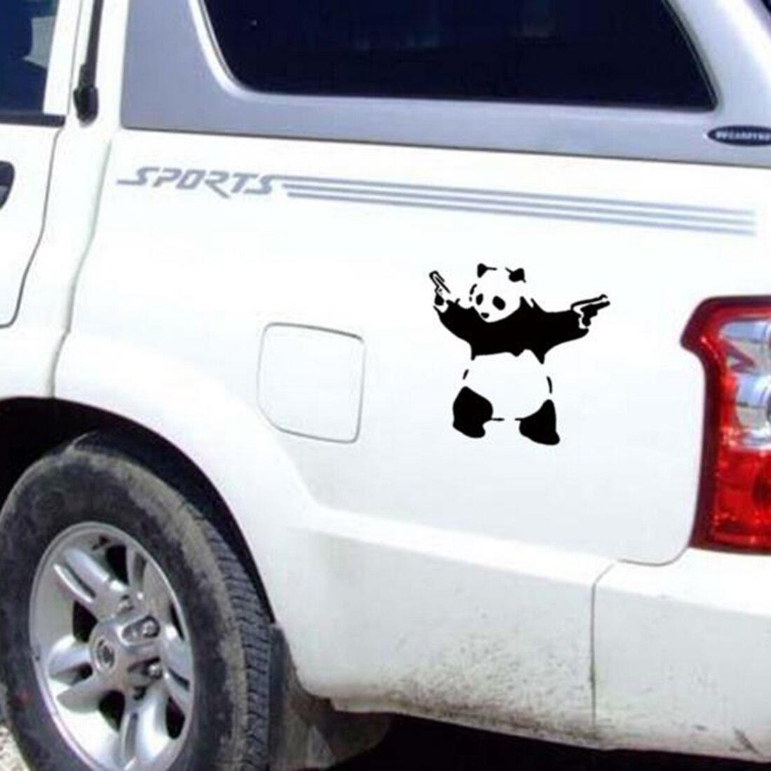 Cute car sticker designs - Fashion Cute Car Art Panda Car Sticker Decals Waterproof Car Decal On Door Carved Car Styling Stickers Free Shipping
