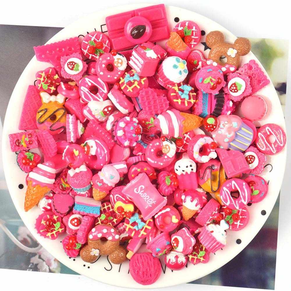 10pcs שרף עוגת קסמי רפש אספקת רך חימר ערכת Lizun DIY אביזרי קישוט Antistress תוספת עבור פלסטלינה צעצועים