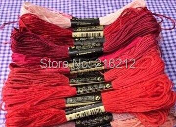 6*447 pcs 8.7 Yard fil à broder point de croix fil fil CXC similaire DMC 447 couleurs
