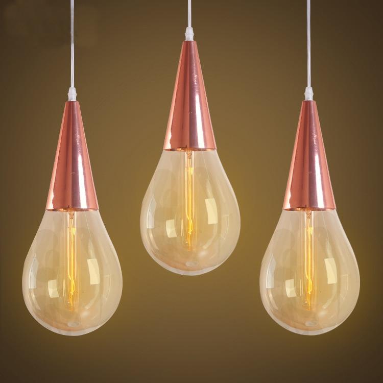 Moder Colorful Glass Edison Bulb Pendant Lamp Crystal Lamp Art Creative  Water Drop Shape Hang Lamp