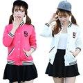 Velvet Baseball Jacket Women Fleece Casacos Femininos College Jackets Harajuku Style 2016 New Autumn Winter Coat Jackets White
