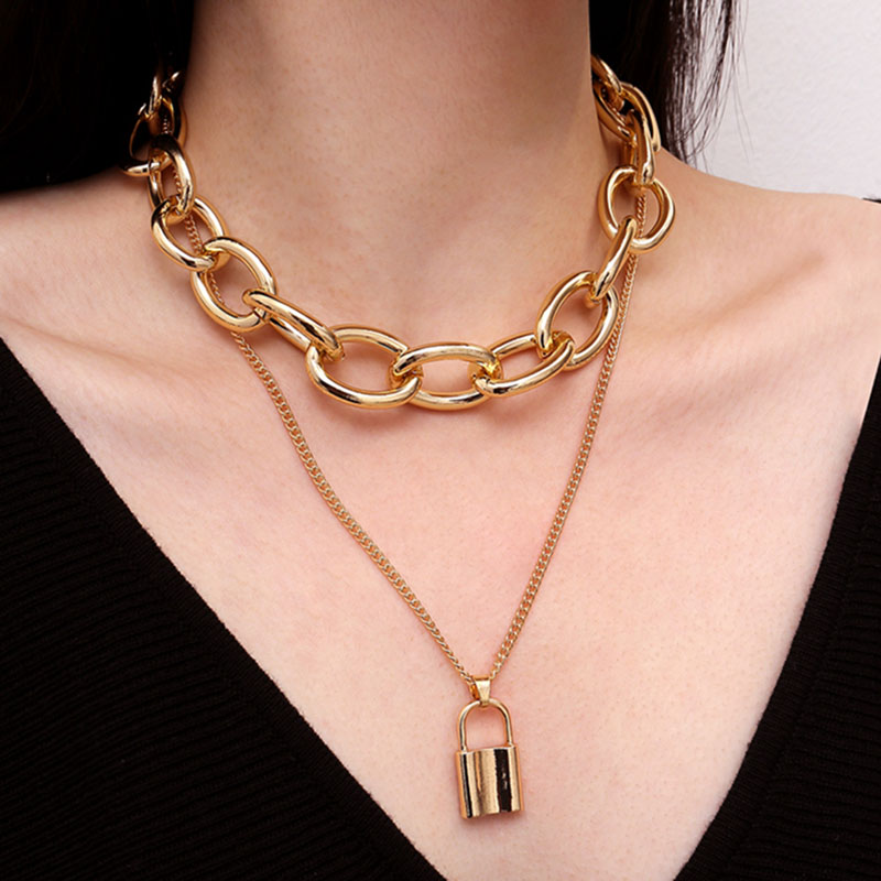 2019 Hot Multi Layer Silver//Gold Color Disc Coin Choker Chain Necklace for Women