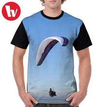 Camiseta de Paraglider para hombre, camiseta de Paraglider Westbury White Horse Wiltshire, ropa de calle del Reino Unido, camiseta estampada impresionante, camiseta de manga corta