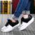 Patchwork Agitar Sapatos Mulher Nova Plataforma de Couro Mulheres Sapatos Casuais Rendas Até Emagrecimento Sapatas Das Senhoras Tamanho 35-40 Andando sapatos ZD61