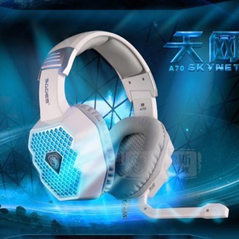 все цены на  SADES A70 Usb 7.1 Gaming Headphones Wired 6 Led Breathing Lamp Casque Fone Game Headset with Sound Card for Computer PC Gamer  онлайн