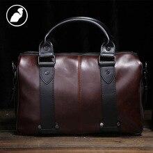 ETONWEAG New 2016 font b men b font famous brands cow leather brown vintage organizer shoulder