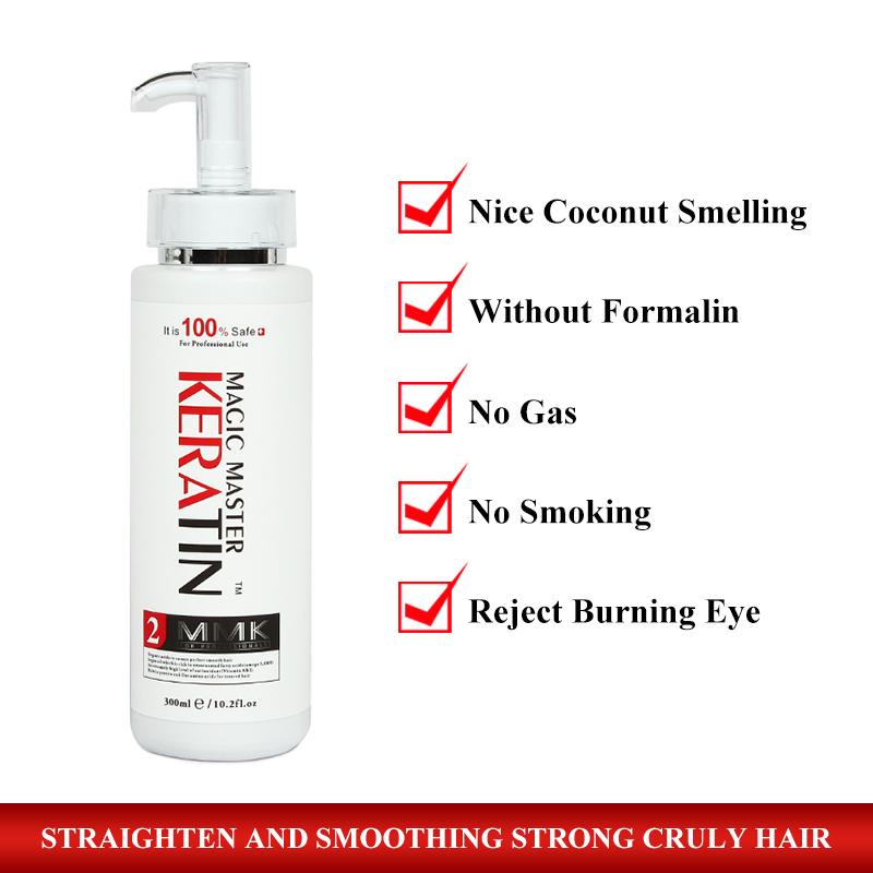 Different Good Smelling 300ML Magic Master Keratin Hair Treatment Straightening Frizzy and Make Smoothy Shiny Hair Get Free Comb