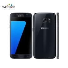 Samsung galaxy s7 g930f original desbloqueado 4g lte gsm telefone móvel android 12mp octa núcleo 5.1