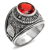 Unique Design 2014 Men S Fashion Stainless Steel Red Glasses Ring High Polished Environmental Friendly