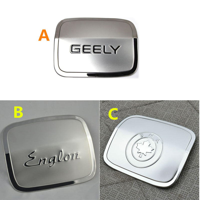 Geely SC7,SC7 Prestige,SL,FC,Vision,Car fuel tank door stainless steel sticker geely sc7 sl car front headlight head light transparent cover