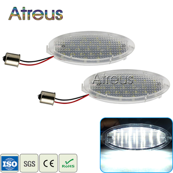 Atreus 2X Car LED License Plate Lights 12V LED Number Plate Lamp Bulb Kit For Opel Astra G Corsa A-B Vectra B Tigra Accessories image