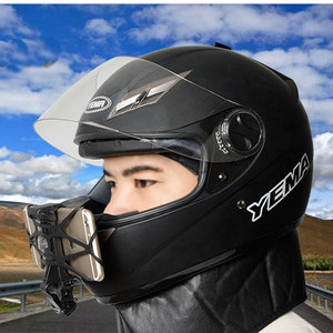 Image 5 - טלפון מחזיק אופנוע קסדת סנטר Mounts מעוקל דבק הר 360 תואר רוטרי רכיבה על הר עבור iPhone x 7 huawei xiaomi