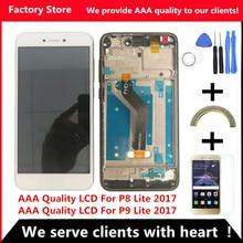 Качественный жк-дисплей AAA+ рамка для huawei P8 Lite, жк-экран, замена для huawei P9 Lite, жк-экран PRA-LA1 PRA-LX1