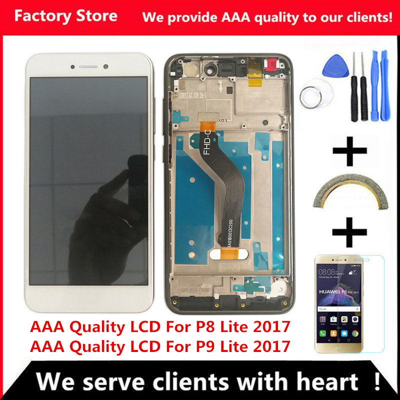 AAA Quality LCD Frame For HUAWEI P8 Lite 2017 Lcd Display Screen Replacement For Huawei P9 Innrech Market.com