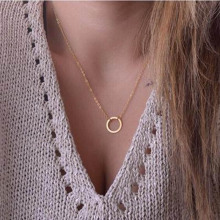 Купить с кэшбэком Tiny Heart Necklace For Women SHORT Chain Heart Star Pendant Necklace Gift Ethnic Bohemian Choker Necklace Drop Shipping