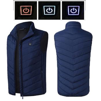 Elektryczna podgrzewana kamizelka mężczyźni kobiety ogrzewanie kamizelka termiczna ciepła odzież Usb podgrzewana kamizelka na zewnątrz zimowa kurtka ocieplana tanie i dobre opinie COTTON Termiczne 181027BX74 Pasuje prawda na wymiar weź swój normalny rozmiar Moc suche S M L XL XXL 3XL 4XL black blue