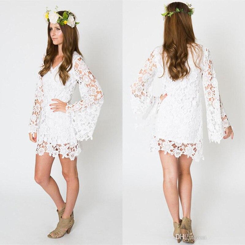 Vestidos blancos para boda de playa Vestidos de noche elegantes