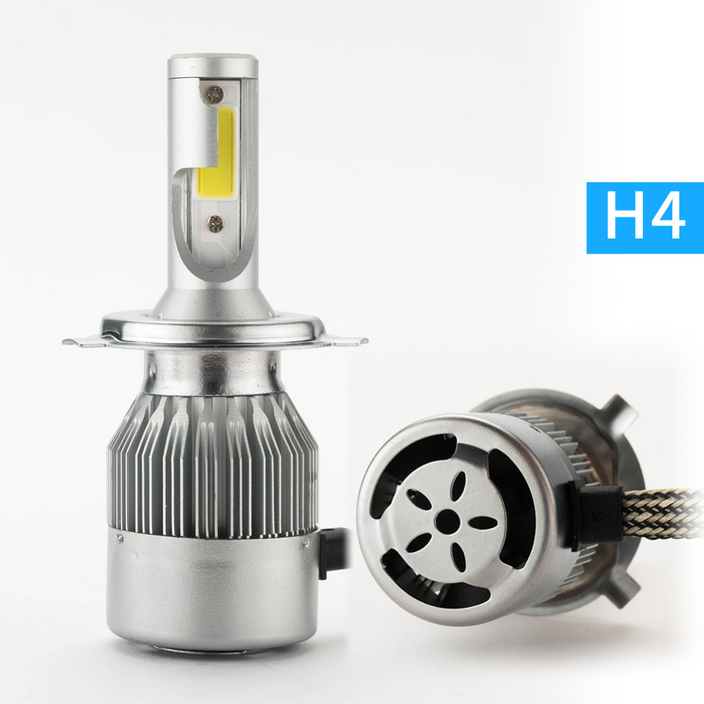 ФОТО H1 LED 72W 7800lm 6000K xenon White car Headlight H7 H3 H4 H11 9005 9006 Auto Headlight Fog Light Kit For Buicks Luxes Mazda