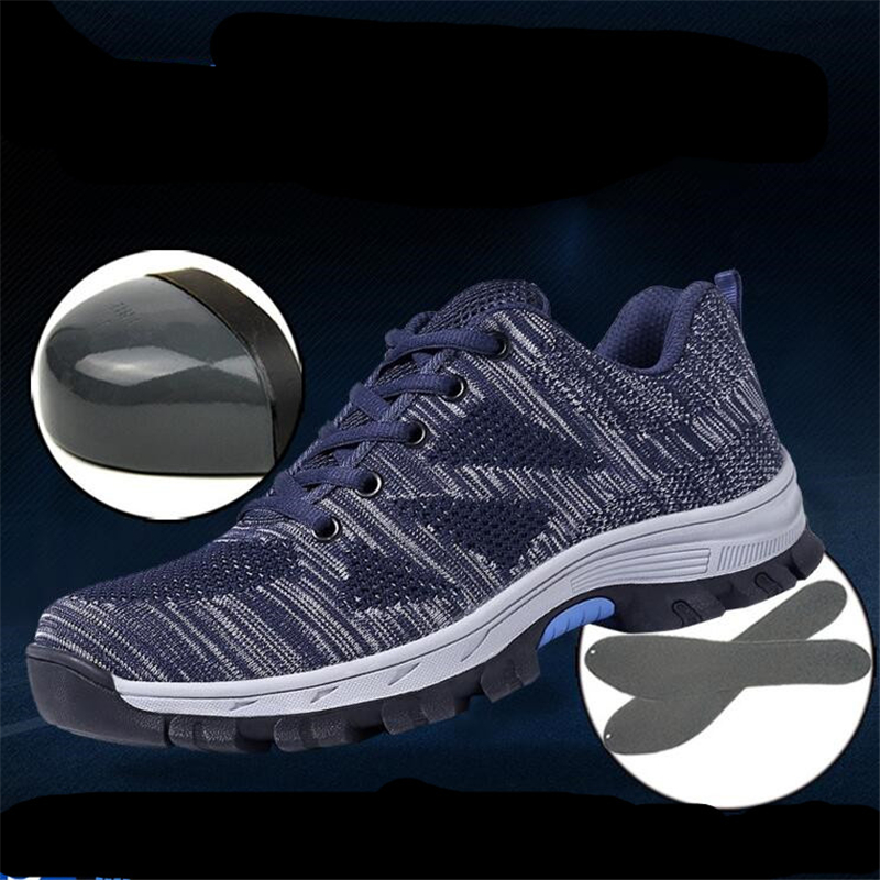 Fine Zero 2017 Autumn Men Air Mesh Steel Toe Cap Work Safety Shoes Breathable Working Boots Puncture Proof Protective Footwear plus size breathable mesh summer spring autumn men shoes steel toe cap work safety women fashion outdoors protection footwear