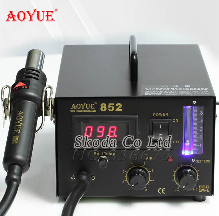 AOYUE 852 SMD Hot air gun Rework Station digital display Digital electronic maintenance tools Soldering Station with US plug