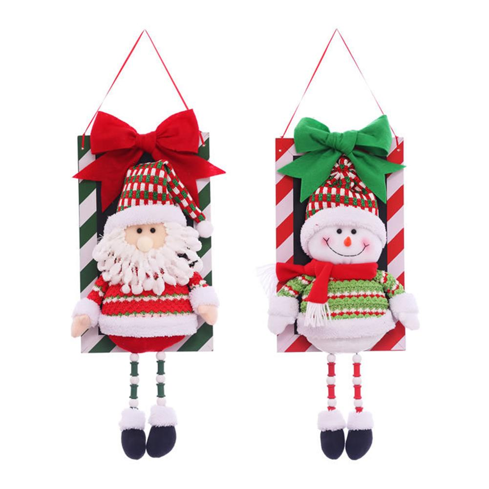 Festive Party Supplies Santa Snowman Pendant Christmas Decorations Christmas Window Ornaments Outdoor Indoor Decorative Signs